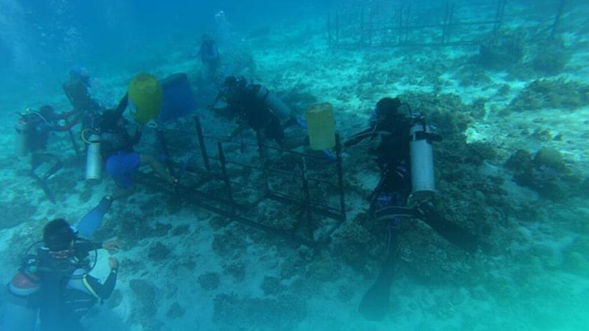 Wyspa Olang FIlipiny 100 metrowy krzyż