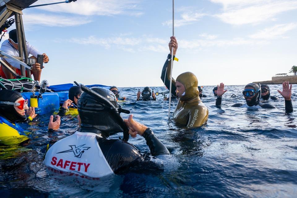 Freediving recrod CWTB 113m Sharm el Sheikh