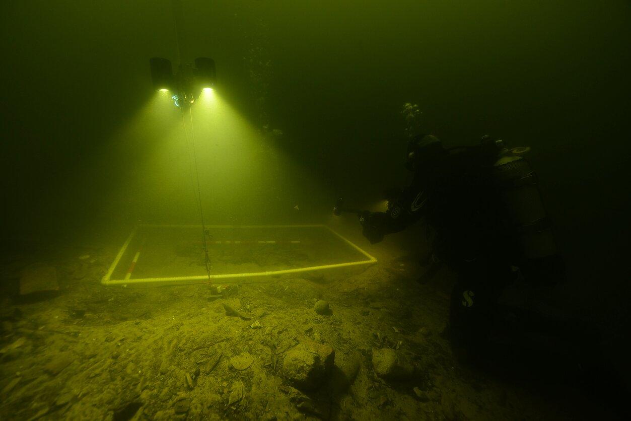 Średniowieczne znalezisko jezioro Oświe