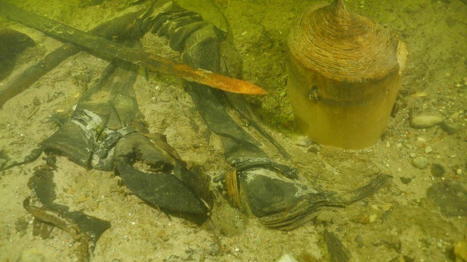 średniowieczne szczątki jezioro Litwa