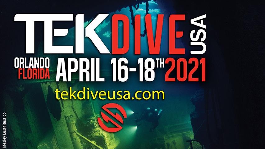 Plakat promujący konferencję TEKDive USA 2021