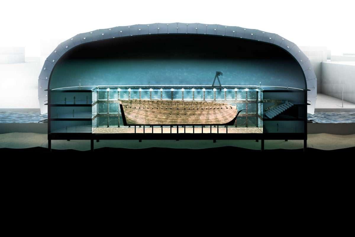 Wrak statku handlowego zamieniony w muzeum Amsterdam
