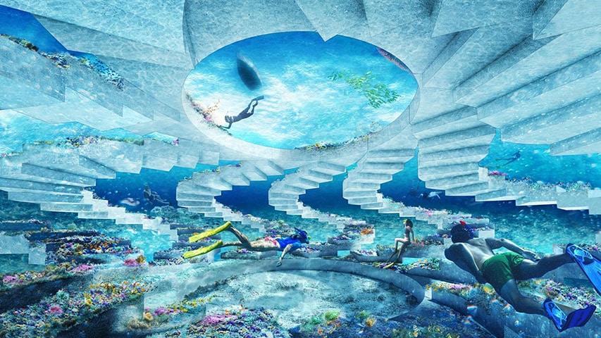 Sztuczna rafa podwodny park rzeźb Floryda