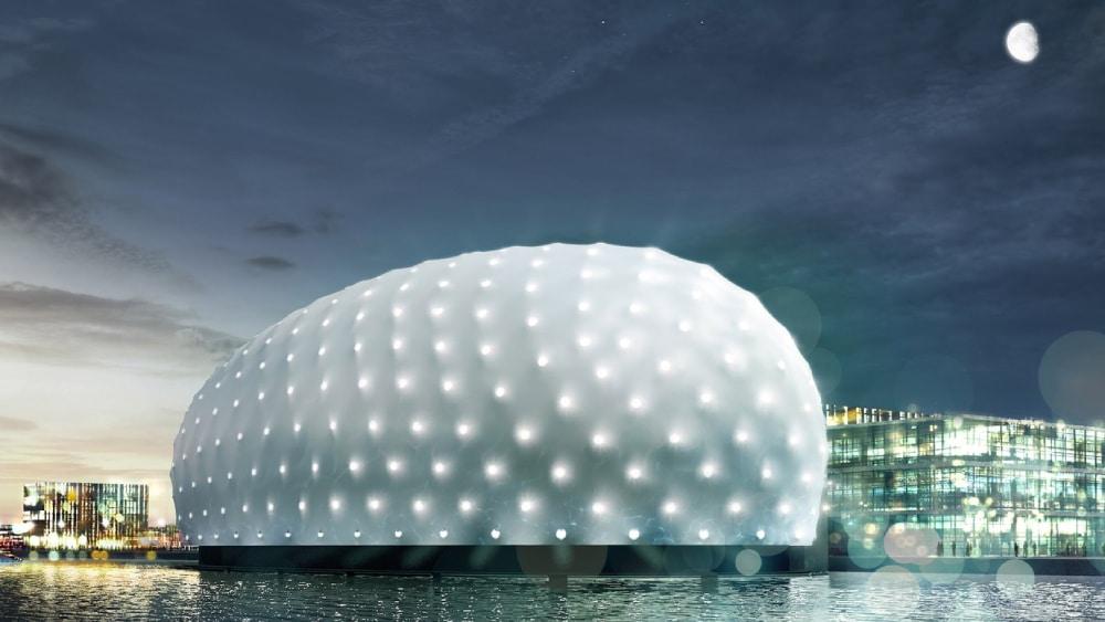 Zewnętrzne poszycie muzeum na wraku Amsterdam