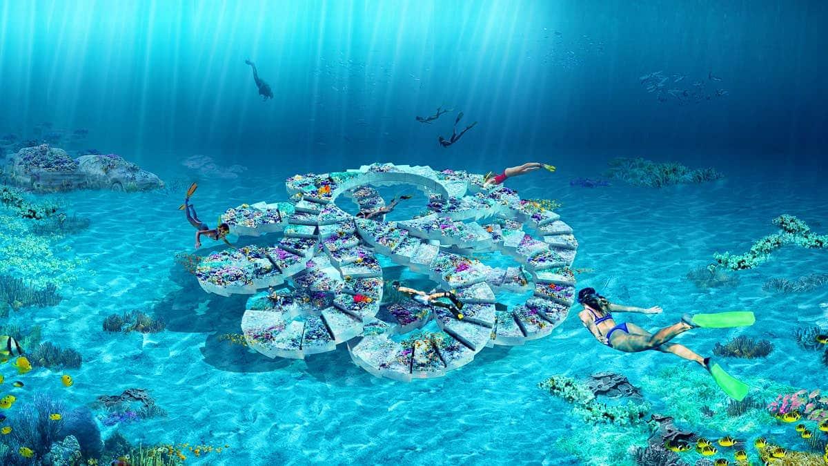 Sztuczna rafa spiralna konstrukcja Floryda