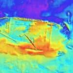 wrak z XVI w zdjęcie sonarowe