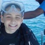 12-letni PADI junior Master Scuba Diver