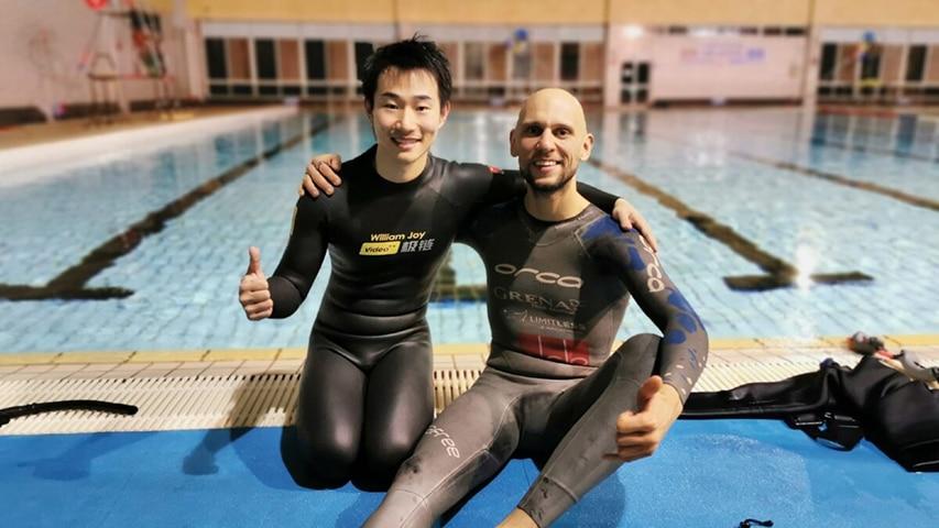 Mateusz Malina i William Joy freediving Chiny