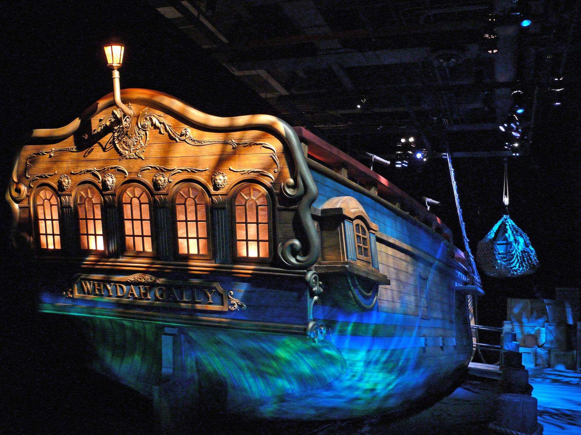 wrak pirackiego statku w muzeum
