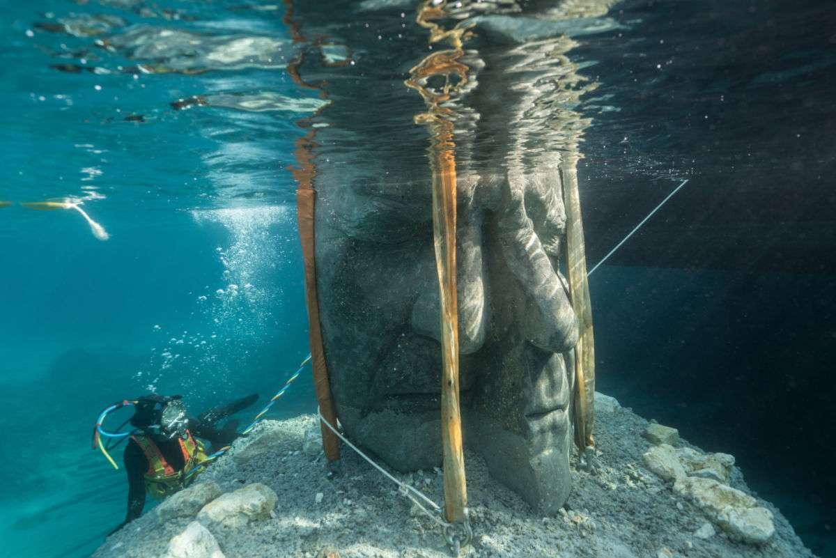 Podwodne muzeum rzeźb wyspa św. małgorzaty