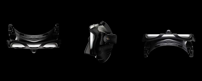 Maska nurkowa Paragon S Tuna różne ujęcia na czarnym tle