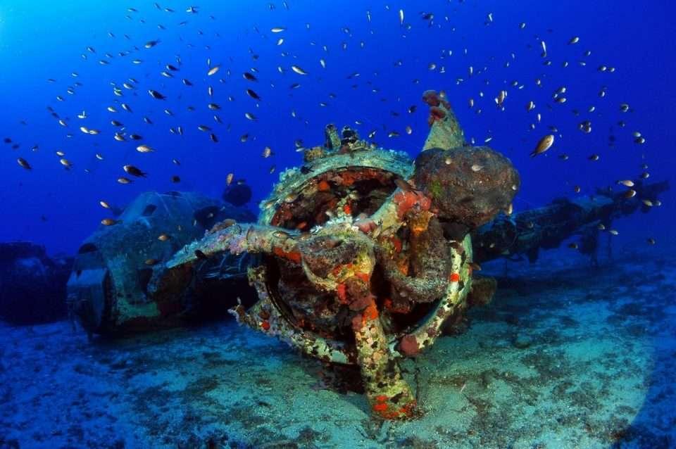 Wrak samolotu Grecja nurkowanie divers24.pl