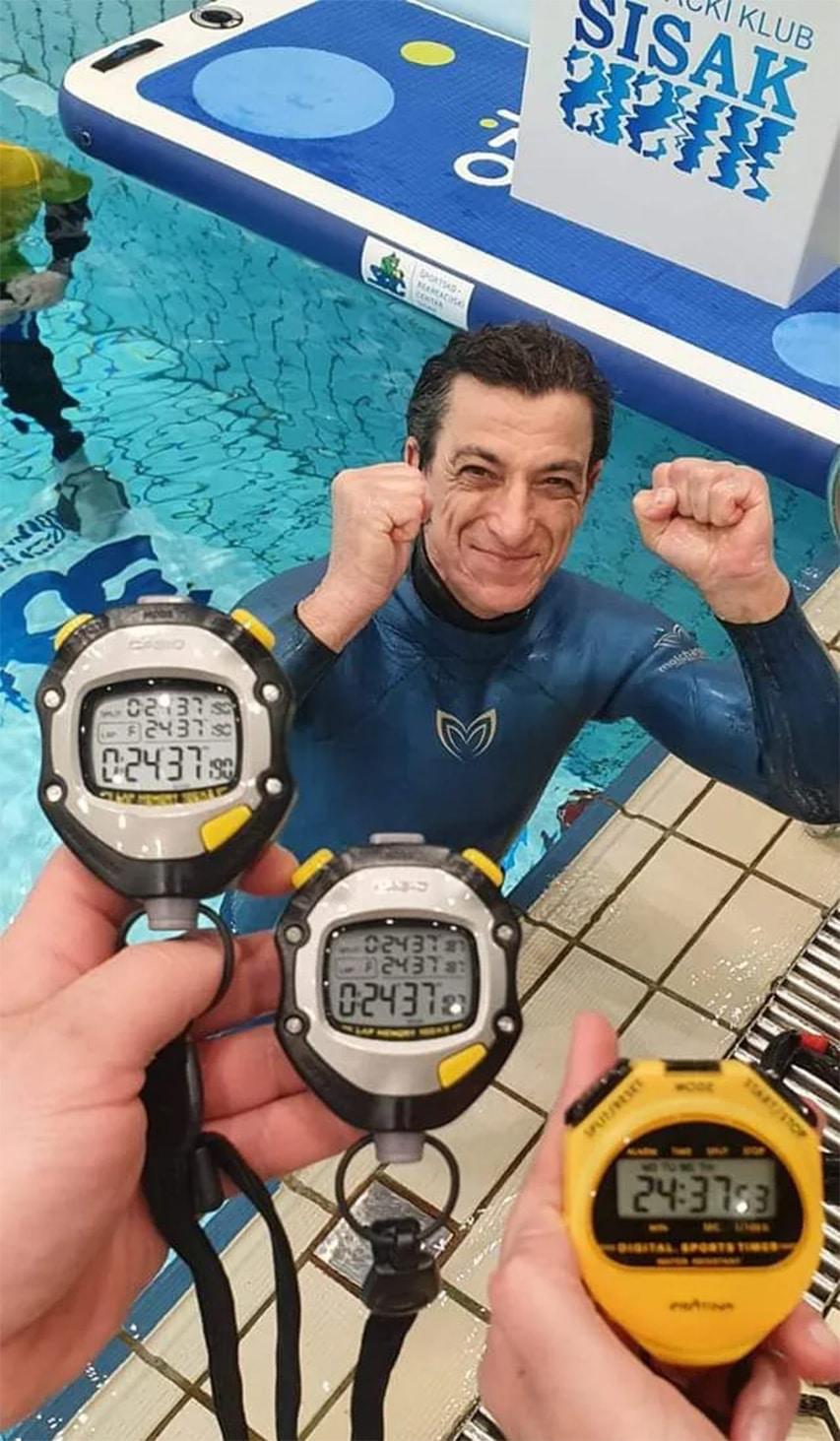 Chorwacki freediver rekord Guinnessa