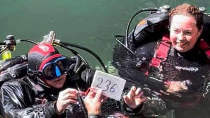 rekordowe nurkowanie Karen Van Den Oever