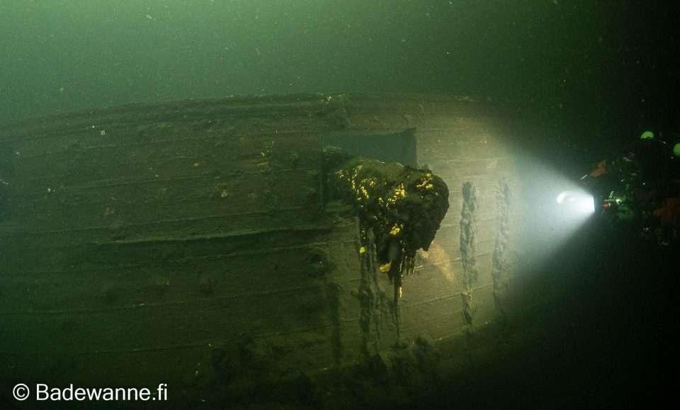 wrak okrętu wojennego z XVIII wieku