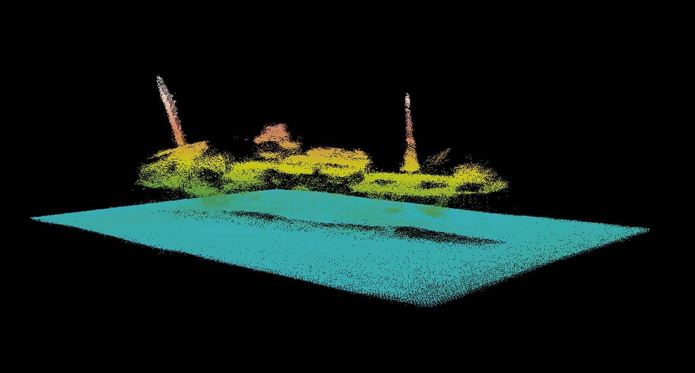 Wrak Gustloff obraz sonarowy