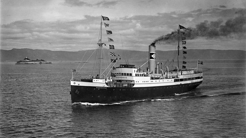 historyczne zdjęcie norweskiego statku