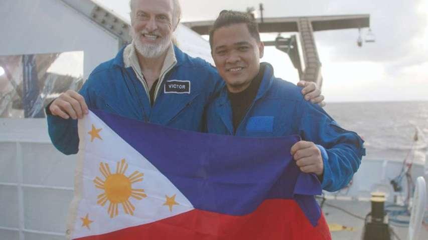 dr Deo Florence Onda i Victor Vescovo zanurzenie na dno Rowu Filipińskiego