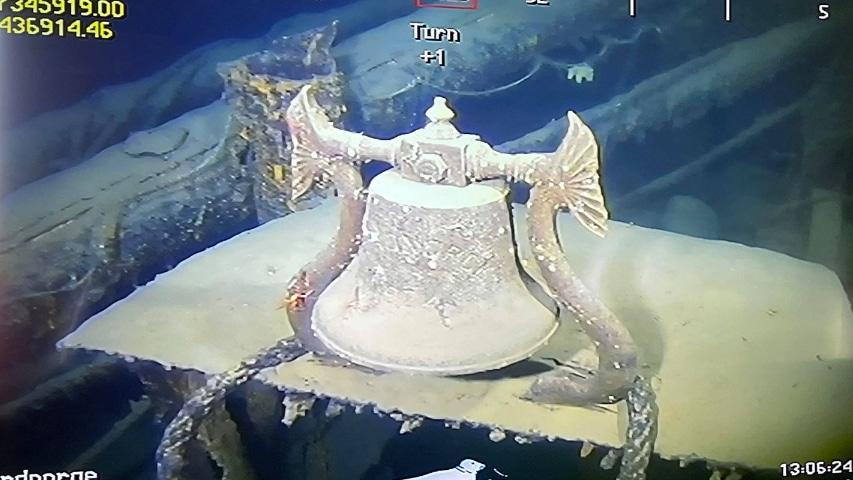 odnaleziony dzwon norweskiego parowca