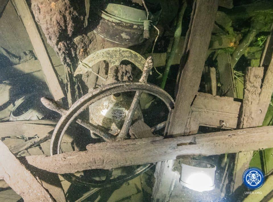 wrak transportowca Kalpaks zidentyfikowany przez Rosjan