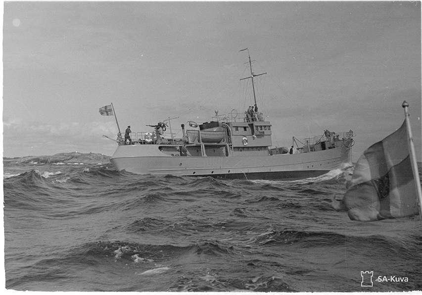 historyczna fotografia fińskiego okrętu