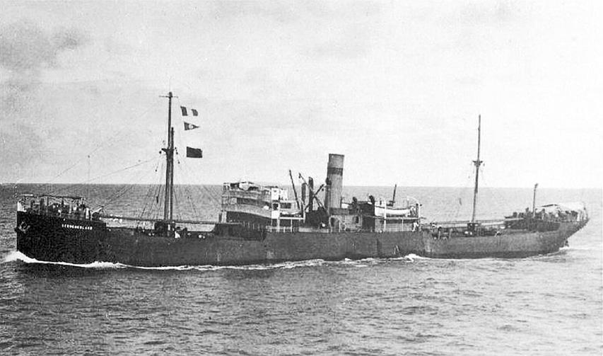 zdjęcie statku przed zatopieniem