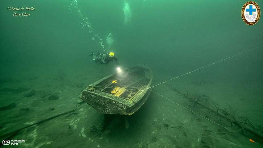 wrak łodzi Syrena Morskie Oko