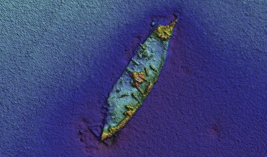 najnowsze skany wraku okrętu wojennego Le Surveillante