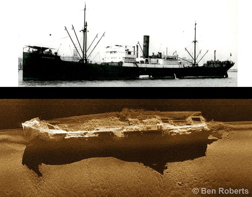 zestawienie zdjęcia i obrazu z sonaru