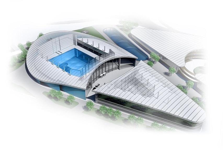 Koncept najgłębszego basenu na świecie
