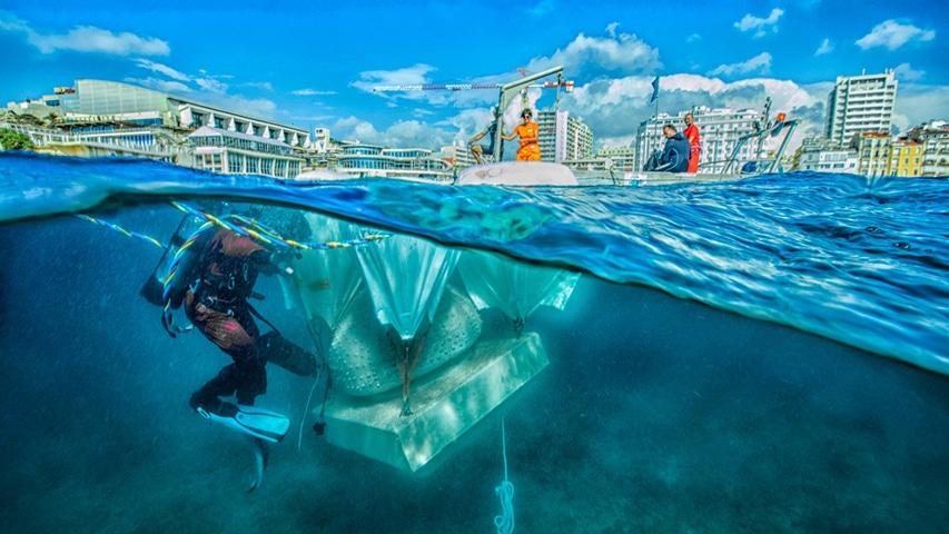 Podwodne muzeum rzeźb w Marsylii divers24.pl fot. Musée Subaquatique de Marseille
