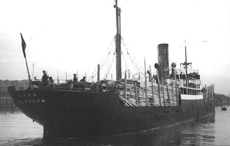 Brazylijski statek podczas rejsu