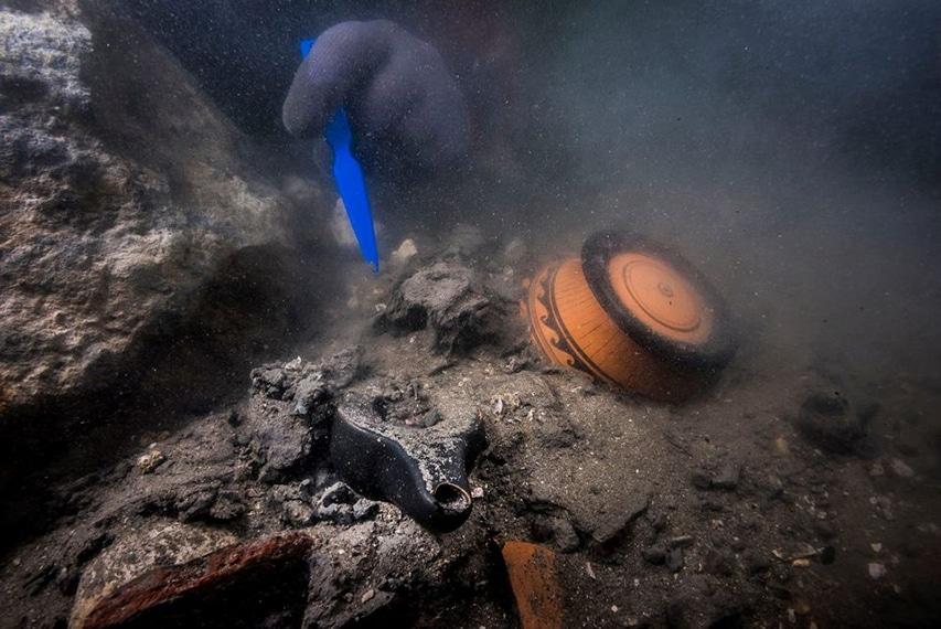 Artefakty odkryte na dnie zatopionego portu Heraklejon