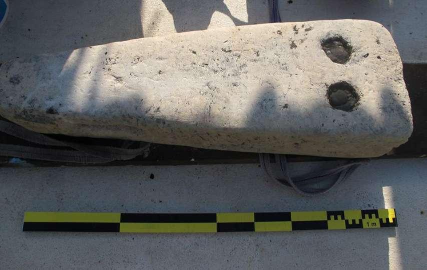Zabytek wydobyty przez archeologów
