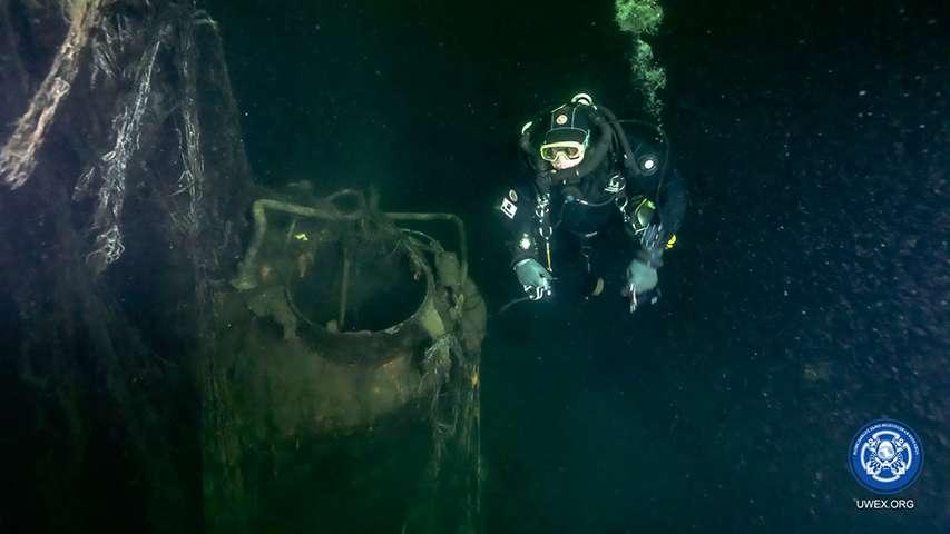 Inspekcja wraku okrętu M-96