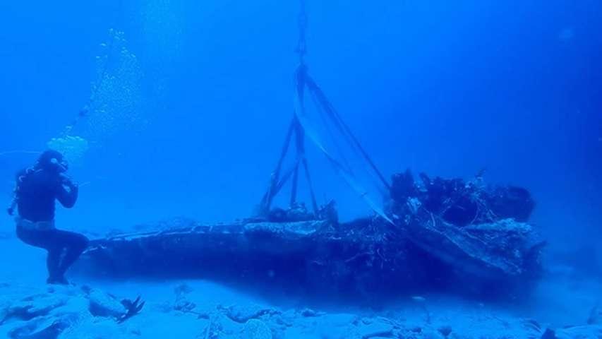 pozostałości japońskiego bombowca z II WŚ