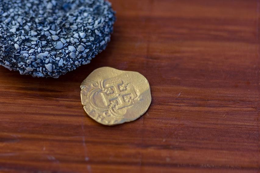 Złoty numizmat odnaleziona na wraku