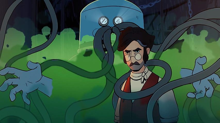 Kadr z filmu animowanego Skafander Klingerta