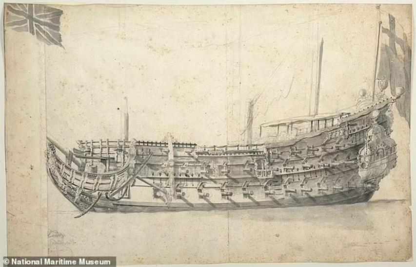 cyfrowa mapa okrętu London