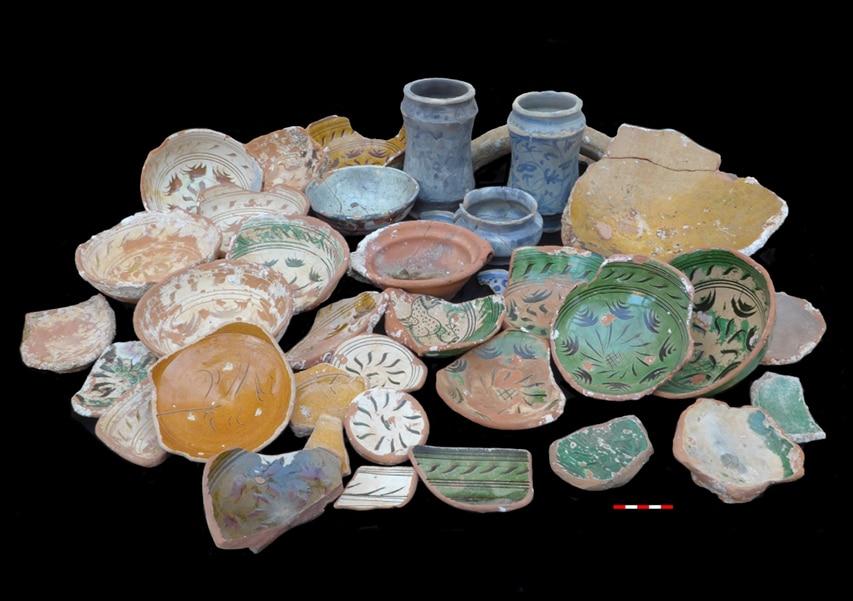 Ceramika wydobyta z wraku Sanguinaires C