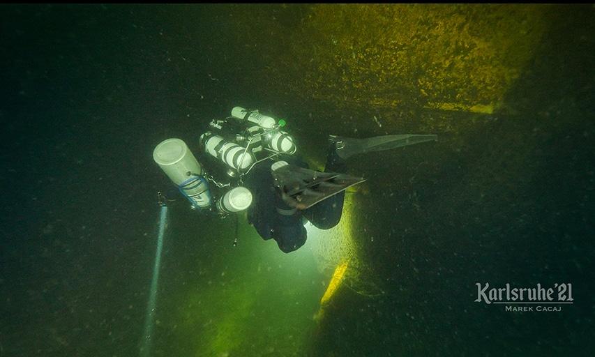 Eksploracja badanego wraku Morze Bałtyckie