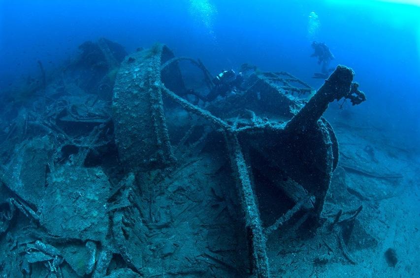Wrak okrętu zatopiony w Turcji u wybrzeży Gallipoli